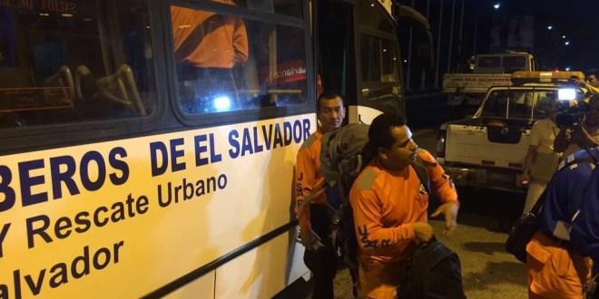 El Salvador envía equipo de búsqueda y rescate a Ecuador