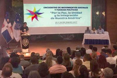 Movimientos sociales se reúnen en apoyo a Cumbre de Celac