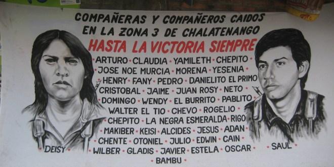 En la Subzona 3 de  Chalatenango se recuerda a los caídos en combate el 21 de enero de 1988