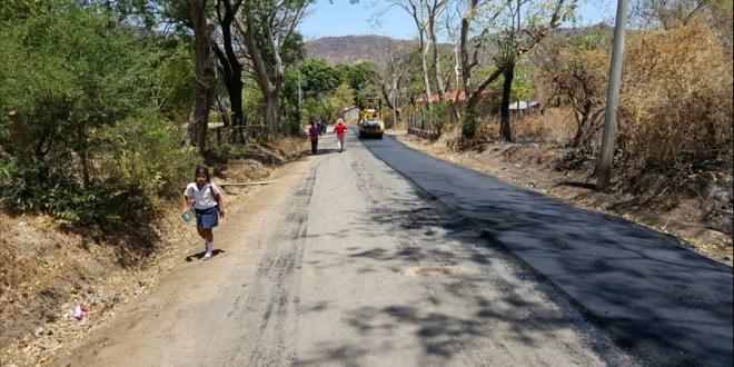 MOP inicia recarpeteo de calles en Quelepa, San Miguel