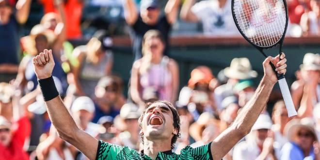 Federer derrota a Wawrinka y celebra el título en Indian Wells