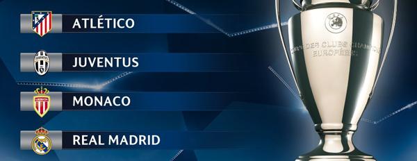 Juventus y Mónaco completan las semifinales de la Champions