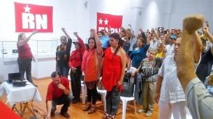 Con un acto político-cultural celebran 42 años de la fundación de la Resistencia Nacional, una de las organizaciones fundadoras del FMLN.