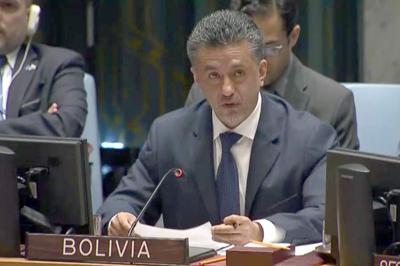 Bolivia califica en ONU de antidemocrático al Consejo de Seguridad