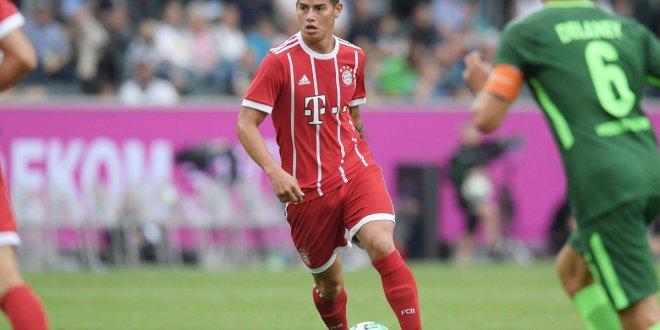James con buenas sensaciones  en su debut con el Bayern