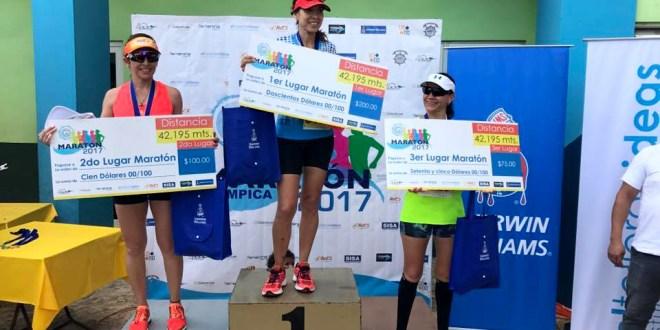 Haunner Mancía y Karen Cubías ganan la Maratón Olímpica 2017