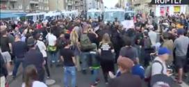 Izquierdistas impiden marcha neonazi en Berlín