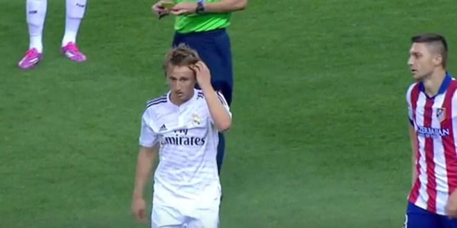 Modric se perderá la Supercopa de España por una expulsión de 2014