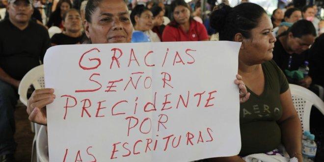 Gobierno avanza en la legalización de tierras para sectores eternamente olvidados