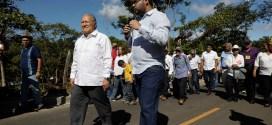 MOP entrega pavimentación del primer tramo de carretera al desvío El Mozote