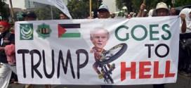 Masiva manifestación en Indonesia contra el reconocimiento de Jerusalén por Estados Unidos