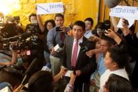 El Viceministro de Seguridad, Raúl López da detalles sobre la conmutación de la pena otorgada a Teodora Vásquez. Foto Diario Co Latino/ David Martínez.