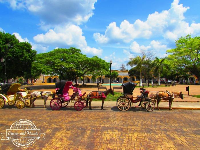 Piazza centrale di Izamal, la città gialla