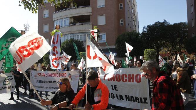 La protesta de la limpieza, en Alcaldía