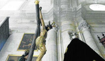 El misterio de Piedad, en el interior de la Catedral