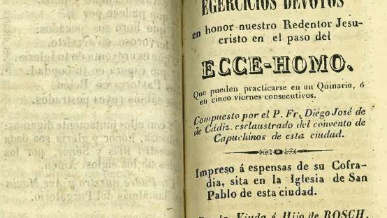 Imagen de una impresión del quinario de 1844.