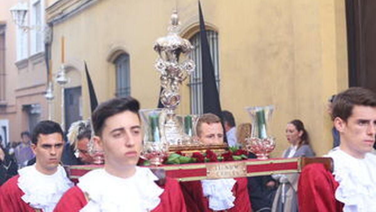 El Lignum Crucis de la cofradía de Afligidos, de El Puerto.
