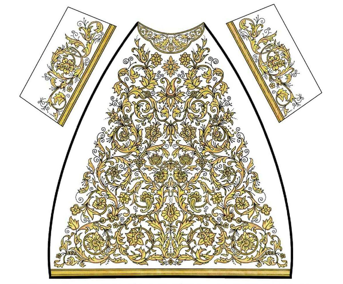 Diseño de la nueva saya para la Virgen del Patrocinio.