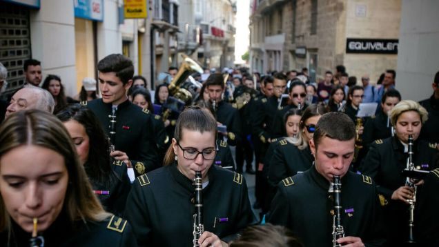 La banda de música Virgen de la Estrella, de Puerto Real.