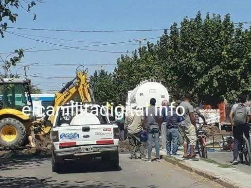 CAUCETE: OPERARIO DE OSSE  SUFRIÓ ACCIDENTE EN DERRUMBE, Periódico San Juan