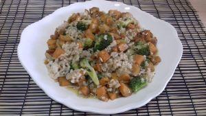 arroz integral con brócoli y boniato