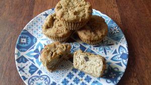 Muffins de garbanzos y frutos secos
