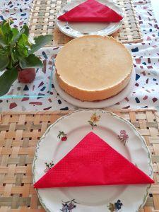 Cheesecake de melocotón