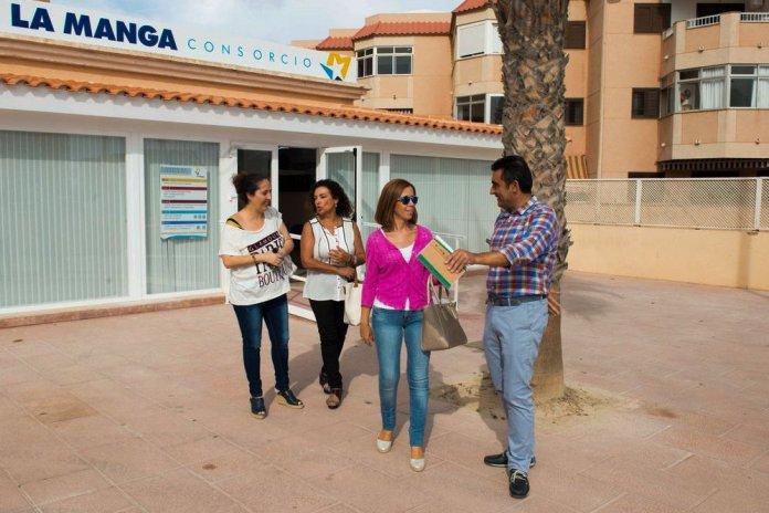 Castejón y Gómez en las instalaciones de La Manga Consorcio