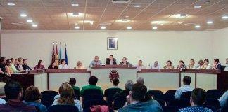 Pleno del Ayuntamiento de San Javier en el que se aprobó la medida.
