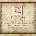 Diploma entregado por la Asociación Lucerna a Pedro Conesa por su 2º premio.