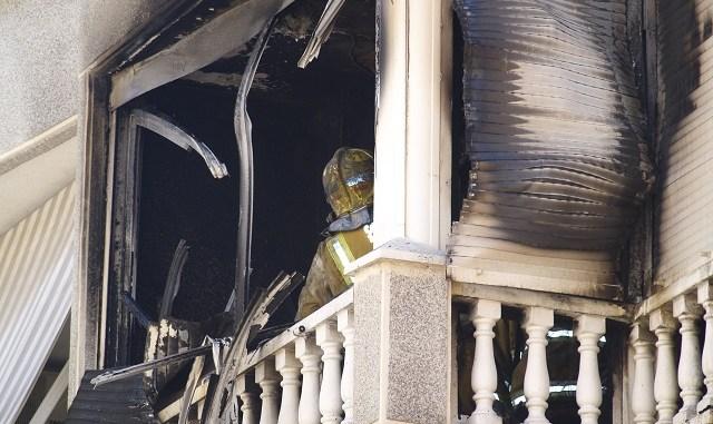 Incendio en la calle Pedro Lorca