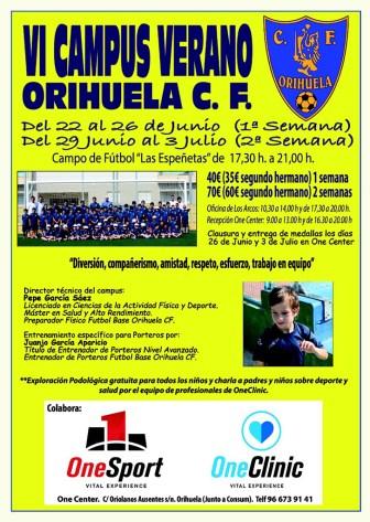 Orihuela CF campus 2015 cartel