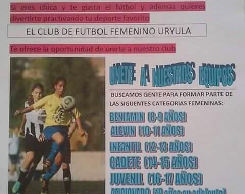 CFF Uryula busca jugadoras