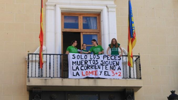 manifestación LOMCE 32 callosa abril 2016