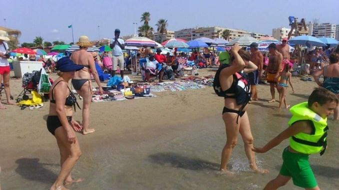 venta ilegal playa torrevieja