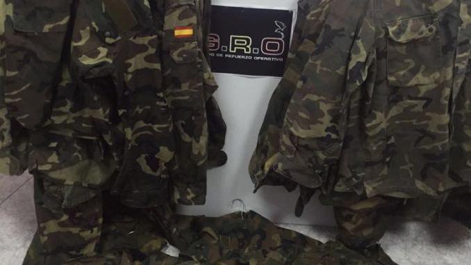uniformes ejército