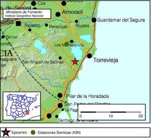 Un terremoto de magnitud 2,3 sacude Torrevieja
