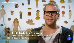 El bigastrense Eduardo Navarrete expulsado de 'Maestros de la Costura'