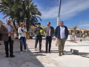 Avanzan las obras en la Plaza de la Cruz de la pedanía oriolana de San Bartolomé