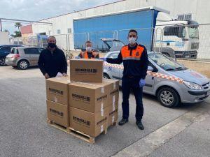 Una empresa de Callosa dona 9.000 metros de goma elástica para la fabricación de mascarillas de protección