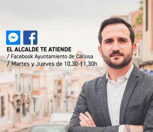 Callosa pone en marcha una línea directa de atención al ciudadano a través de Facebook