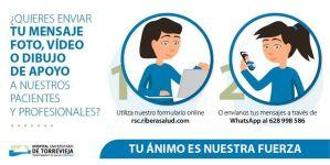 El Hospital de Torrevieja habilita un WhatsApp para recibir mensajes de apoyo a pacientes y profesionales