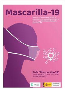 Las víctimas de violencia de género pueden pedir ayuda a través de su farmacia más cercana solicitando una Mascarilla 19