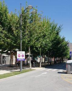 Señalizan la Avenida Teodomiro para su corte y posibilitar así la distancia de seguridad