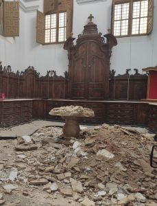 """La Junta Mayor de la Semana Santa de Orihuela exige la """"inmediata"""" reparación de la sacristía de la iglesia de Santa Justa"""