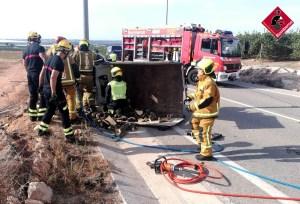 Muere un camionero de 48 años en un accidente de tráfico en Los Montesinos