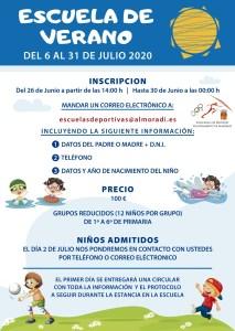 Comienza la inscripción para las Escuelas Deportivas de Almoradí que se realizarán del 6 al 31 de julio
