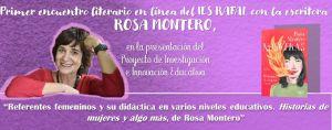 Rosa Montero ofrece hoy una charla 'online' a los alumnos del IES Rafal