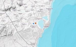 Se producen dos terremotos, en escasos minutos, con epicentro en San Miguel de Salinas