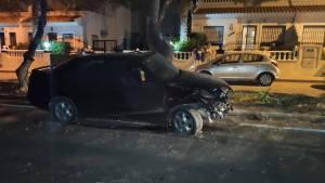 Un conductor nobel choca contra un árbol en Orihuela dando positivo en la tasa de alcohol